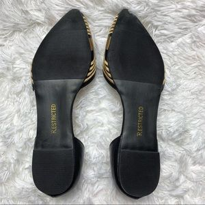 Restricted Shoes - Restricted Black And Gold Slip On Shoes Size 9